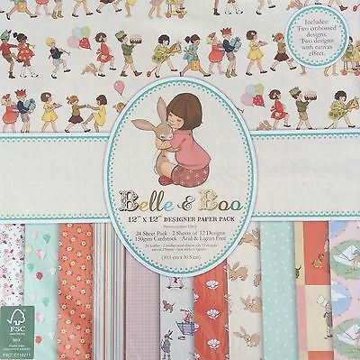 """Belle and Boo 12"""" x12"""" Designer Paper Pack"""