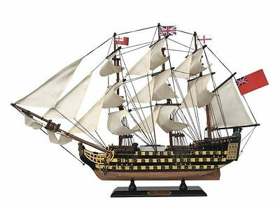 "HMS Victory Admiral Nelson's Tall Ship  21"" Built Wood Painted Model Assembled"