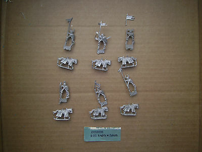 15mm Mini Figs  Crusaders Knights with Lances