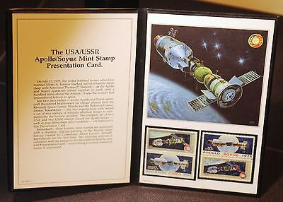 Usa 1569 1570 Ussr 4339 4340 Apollo Soyuz Mint Stamp Presentation Card 1975