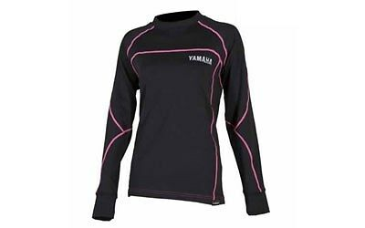 New Yamaha Womens Base Layer Shirt With Outlast Medium Md Smw-14Lbs-Bk-Md