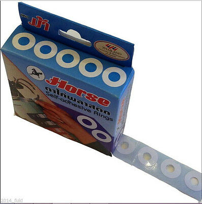 Plastic Self-Adhesive Hole Protector Ring/paper, Reinforcement Ring/label- 500