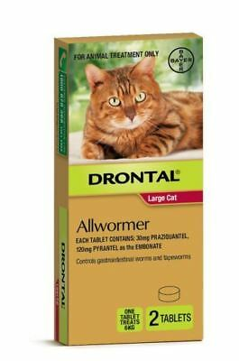 NEW Drontal Allwormer CAT 6 kg 2 Pack treat