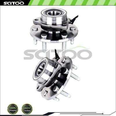 2 New Complete Front Wheel Hub Bearing Assembly For GMC Chevy Truck 4WD W/ABS