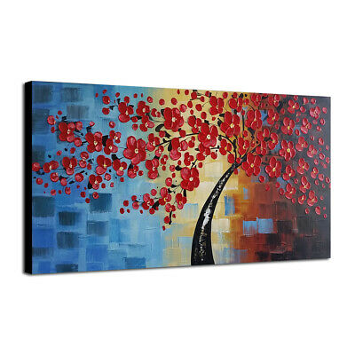 Abstract Hand Paint Oil Paintings Picture Home Decor Wall Art Flower Tree Framed