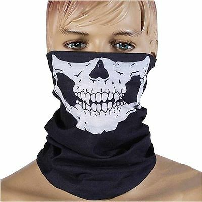 Magic Ghost Skeleton Skull Evil Face Mask Veil Scarf Head Wear Deco for Party
