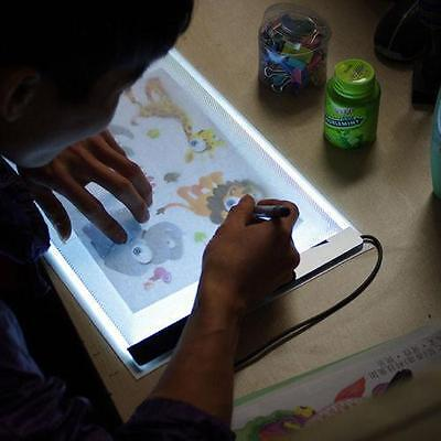 A4 LED Stencil Light Pad Panel Dimmable Tracing Board Animation Drawing