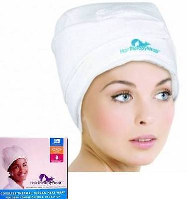 Hair Therapy Heat Wrap Cordless Thermal Turban Deep Conditioning & Hydration Cap