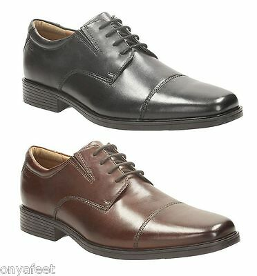 Mens CLARKS ADULTS - TILDEN CAP FORMAL/DRESS/WORK/CASUAL/LEATHER SHOES