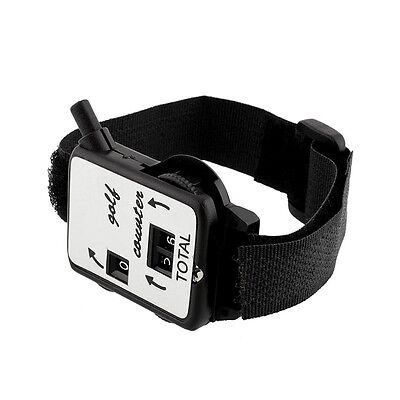 Black Golf Score Stroke Keeper Count Watch Putt Counter Shot With Wristband