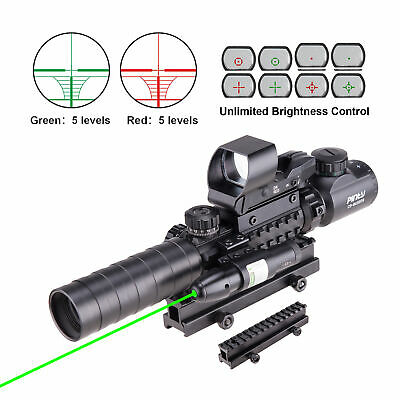 Mil Dot Reticle Riflescope w/Laser Sight  Red Dot Sight Scope Combo 3-10X40EG