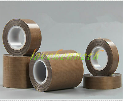 10m PTFE Teflon Heat-Resistant High Temperature Adhesive Tape 10mm to 100mm Wide