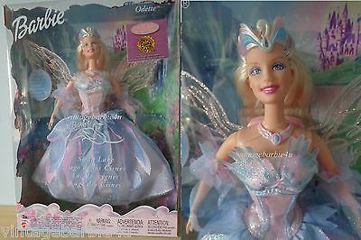 Swan Lake Barbie Doll as ODETTE with Light Up Wings Mattel 2003 NEW MINT in Box