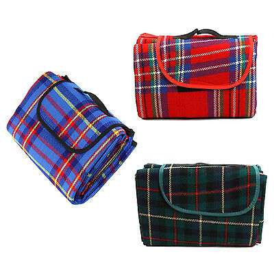 200x150cm Waterproof Rug Blanket Outdoor Camping Mat Plaid Red SYH