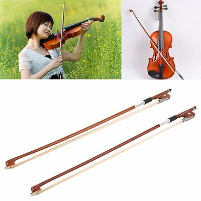 Brazilwood Brasiletto Violin Bow 4/4 Professional Students Good Stiffness NR