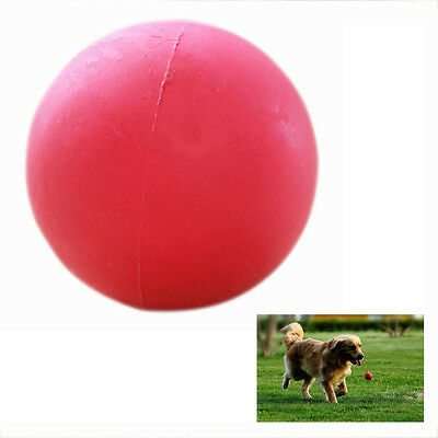 Indestructible Solid Rubber Ball Pet cat Dog Training Chew Play Fetch Bite SYH