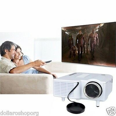 "Videoproiettore 60"" portatile Video Home Cinema Proiettore LED HD HDMI VGA USB"