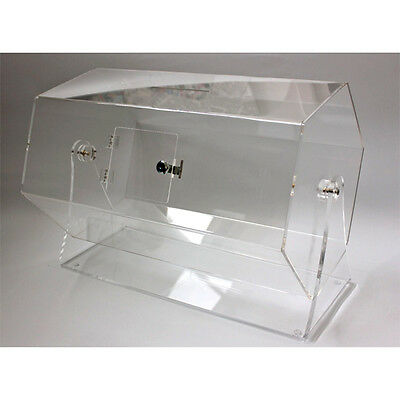 Large Acrylic Raffle Barrel / Counter Top Competition Drum / Ticket Drum