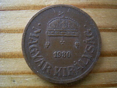 1930 Hungary  2 filler Coin Collectable