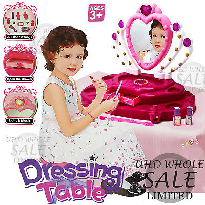 Princess Glamour Mirror Girls Dressing Xmas Toy Kids Beauty Gift Set Make Up