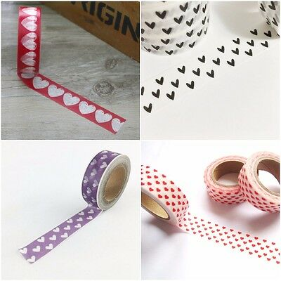 Hearts Valentines Day Washi Tape, Romantic Love Inspired Masking Tapes
