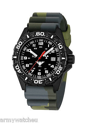 KHS Tactical Watches Reaper Army Red Trigalights© Date Field Gear KHS.RE.DC3