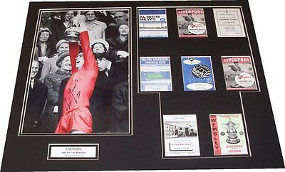 Liverpool - 1965 FA Cup Winners Mounted 20x16 Display Signed By Ron Yeats