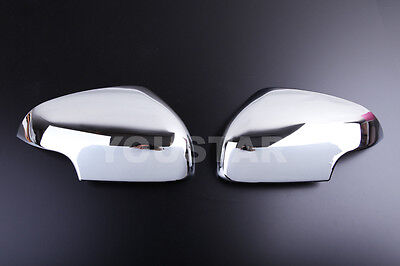NEW Chrome DOOR WING MIRROR Covers Trims for Jaguar X Type 2007 ON FACELIFT