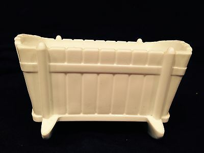 Beautiful Vintage 1950's Indiana Milk Glass White Miniature Baby Cradle
