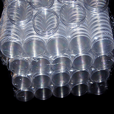 10pcs 30mm Applied Clear Round Cases Coin Storage Capsules Holder Plastic