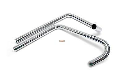 Triumph 500 Two-Bend, Staggered, Right Side Exit Exhaust Pipes PT107