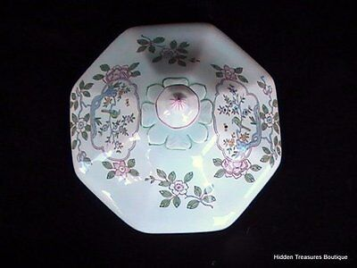 Vintage Adams Calyx Ware Singapore Bird Round Covered Vegetable Lid Only
