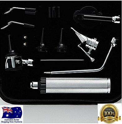 Stainless Steel Complete 3.25v Bayonet locking Otoscope / Ophthalmoscope set