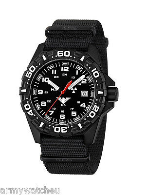 KHS Tactical Watch Red Reaper German Watch H3 Lights Black Army Strap KHS.RE.NB