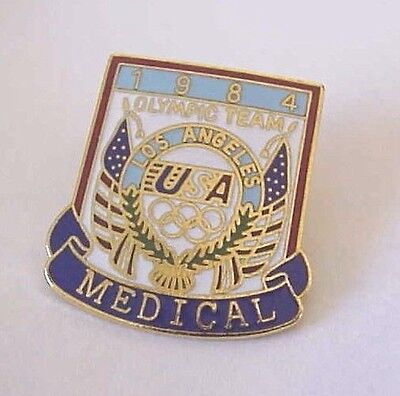 1984 Los Angeles Olympic Team USA Medical Licensed Magarita Taiwan Pin
