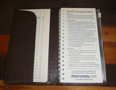 Dave Ramsey's Envelope System Brown Wallet Ramsey Financial Peace University FPU