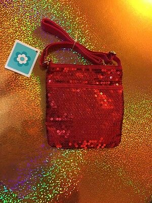 New Girls Red Sequin Purse