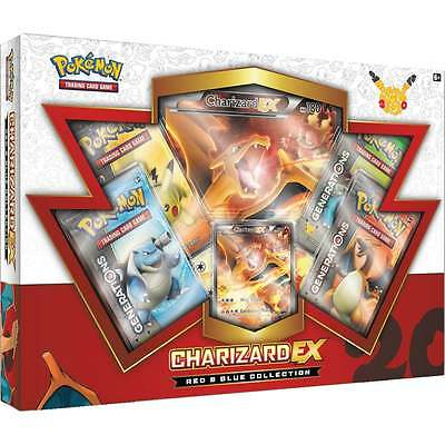 Pokemon Red & Blue Charizard Ex Box Full Art Jumbo Generations