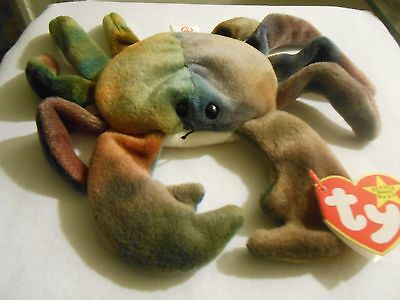❤️❤️ Ty Beanie Babies Baby Claude Ty-Dye Crab 1996 ❤️❤️  Fast Shipping