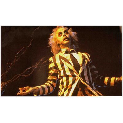 Beetlejuice Michael Keaton arms outstretched looking up 8 x 10 Inch Photo