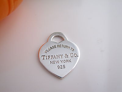 Authentic Tiffany & Co Heart Pendant Charm Return To Use for Necklace Bracelet