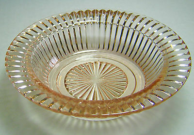 Queen Mary Footed Cereal Bowl Pink Depression Glass Anchor Hocking more avail.