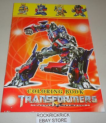 Transformers 16 Page Coloring Book With Stickers (Brand New)
