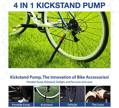 Bike pump Bicycle Kickstand Bike taillight Bicycle Tire Lever All in one
