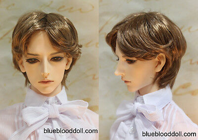 "1//3 bjd 9-10/"" doll head carrot red real mohair wig dollfie pullip doll Soom ID"