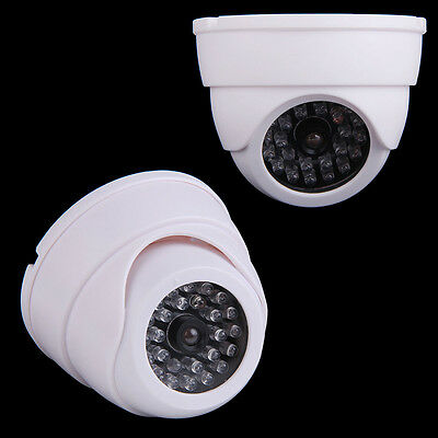 Dummy Dome Security Camera CCTV 30pcs False IR LED With Flashing Red LED Light #