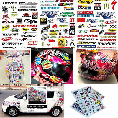 Hot 3pcs/set Cycling Bicycle Sticker Mountain Bike Skateboard Decal Stickers