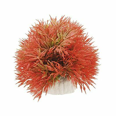 Sourcingmap Plastic Aquarium Aritficial Plants Ornament, Orange Red Green