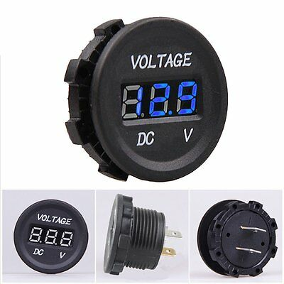 DC12V to 24V Car Digital LED Panel Waterproof Voltmeter Gauge Volt Meter Red