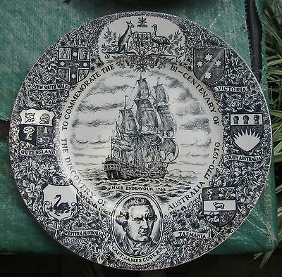 Wood & Sons Captain Cook Bicentenary Commemorative Plate 1770-1970